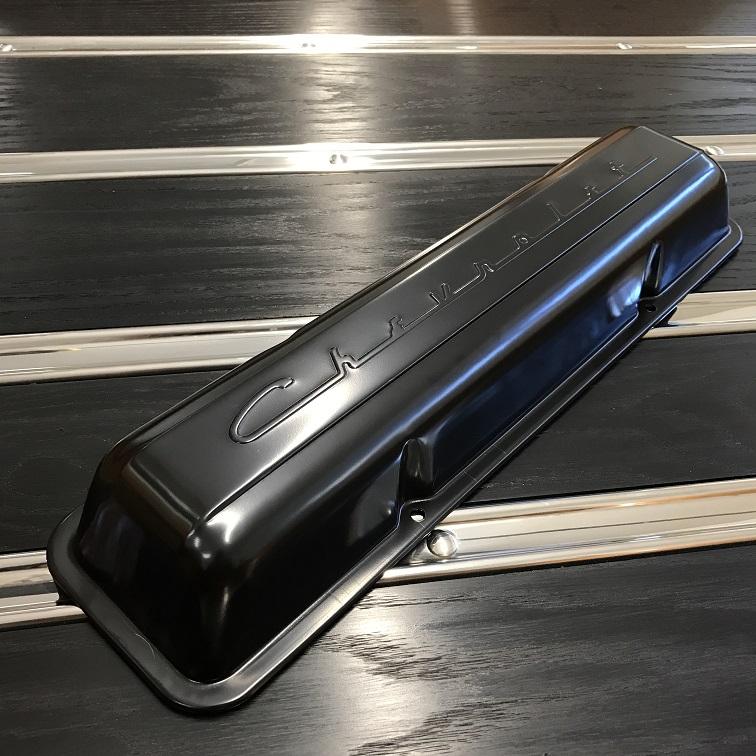 Chevrolet Script Sb Valve Covers Black Paint Pair Delmo S Speed