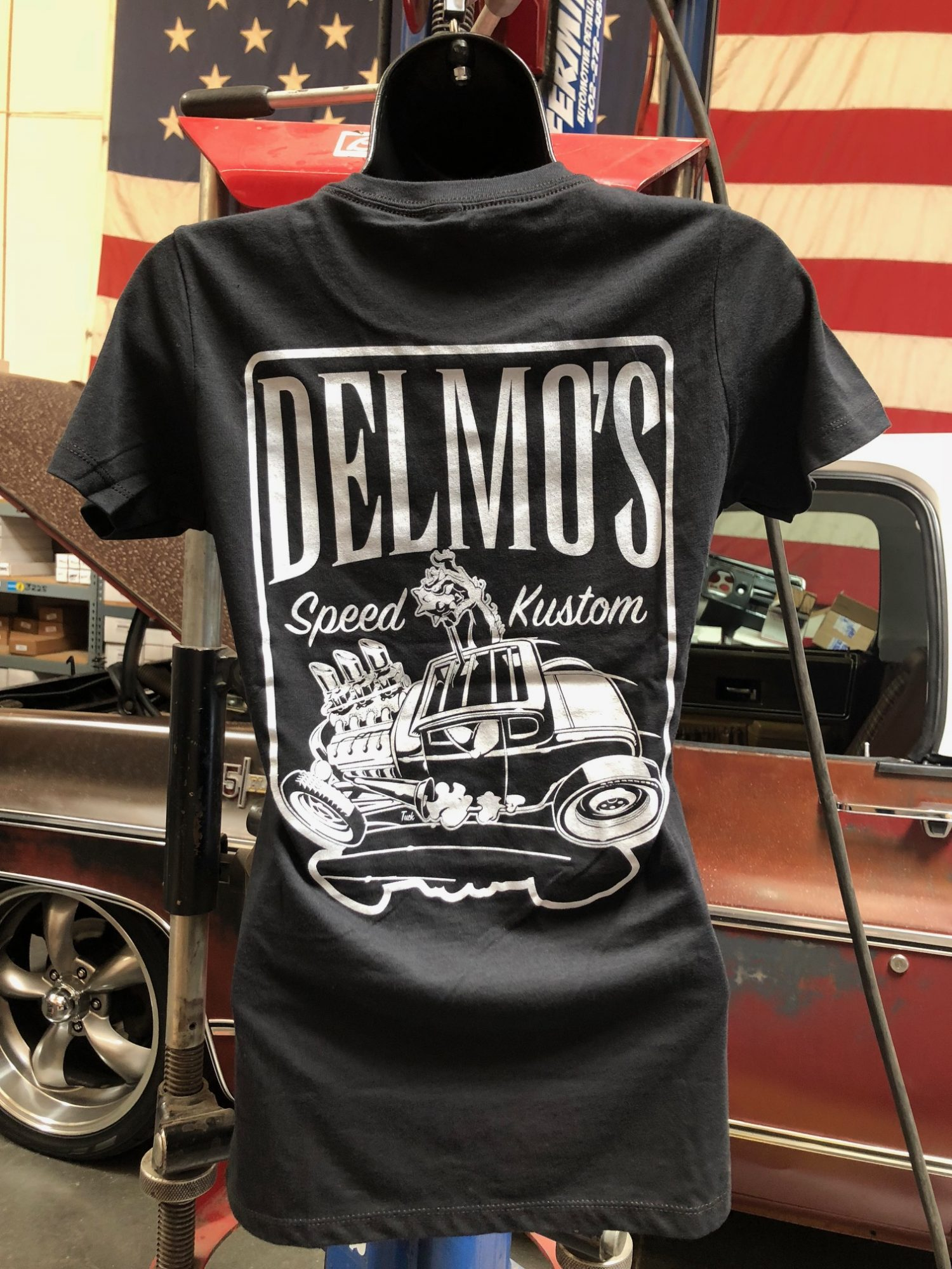 Hot Rod T Shirts >> Delmo S Womens Black Hotrod T Shirt